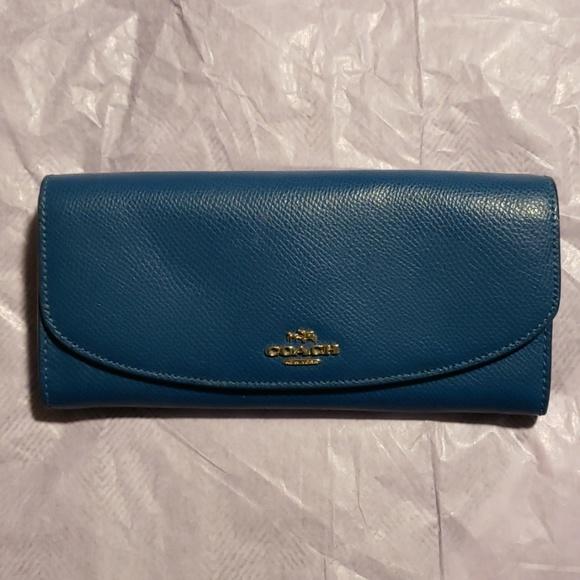 Coach Handbags - Authentic Teal Coach Wallet